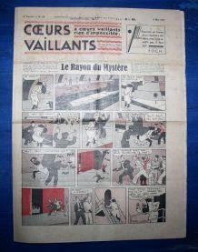 COEURS VAILLANTS N° 18 DU 02/05/1937 - LE RAYON DU MYSTERE
