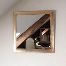 Miroir en laiton 43x43 cm