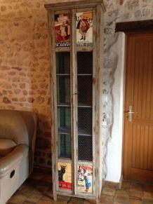 Petite armoire chêne vintage atypique 1900/1930