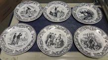 Serie d'assiettes Creil & Montereau