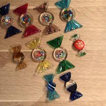 Bonbons en verre de murano, fait main vintage