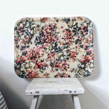 Plateau fleuri vintage