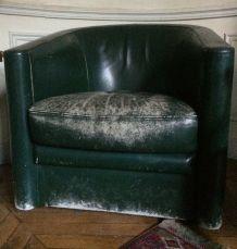 fauteuil club en cuir X 2