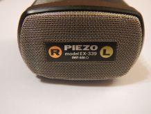 Microphone main piezo stéréo Vintage