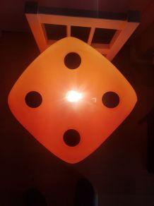 lampe forme de dé années 70