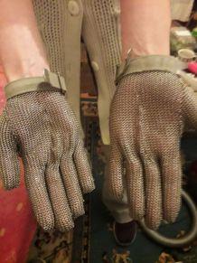 gant en cotte de maille anti coupure