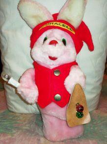 """Ancienne Peluche Duracell Vintage """"Bunny lapin de Noël"""""""