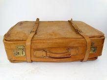 valise cuir a soufflet vintage