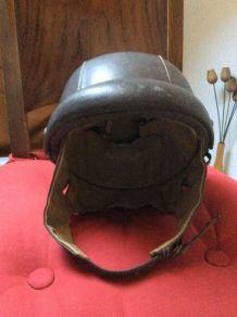Casque bol vintage cuir 56 CM