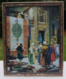 Tableau, Reproduction Scène De la Vie Marocaine