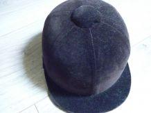 Ancien casque d'équitation des années 40-50