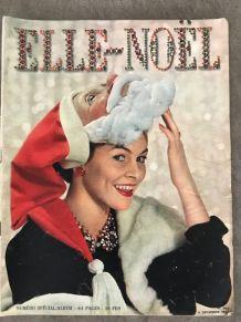 Magazine ancien ELLE 1950 Noel