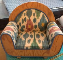 Grand fauteuil poupee ours