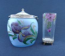 Seau à biscuits & Vase soliflore Art Nouveau