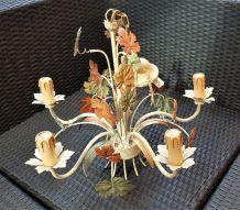 Suspension Lustre métal Style Florentin 5 branches