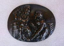 Bas-relief sculpté en bronze - France - XIXeme siècle