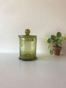 Pot d'apothicaire ou bonbonnière en verre