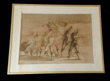 Grande lithographie signée de Claude WEISBUCH