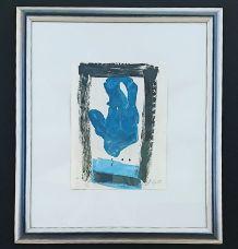 """Gravure d'art contemporain signée Philippe Lepatre """"Le Vent"""""""
