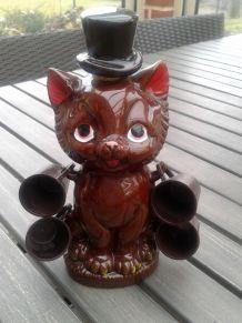 Petite carafe chat et ses petits gobelets