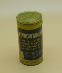 """Boîte en fer de 1948, """"Névrovitamines"""""""