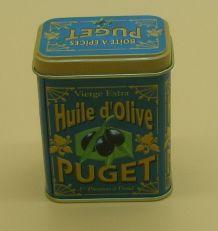 """Boîte en fer publicitaire de 1990 """"Puget"""""""