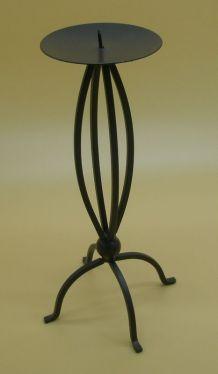 Chandelier rétro en fer courbé, années 60