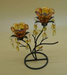 Chandelier rococo en fer des années 60