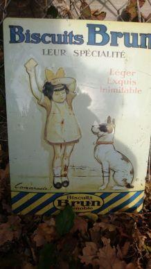 Plaque publicitaire en tolle
