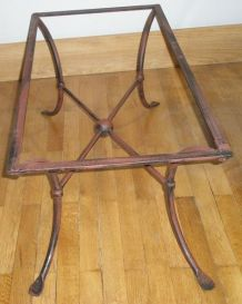 Table basse verre et fer forgé