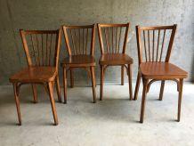 4 chaises Baumann bistrot