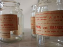 Lot de 4 pots à confiture en verre lisse épais soufflé