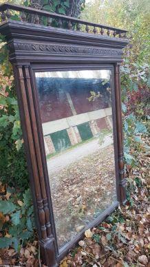 Grand miroir Trumeau dessus de cheminé
