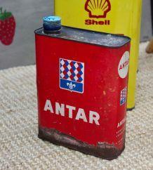 Bidon ANTAR rouge vintage années 50