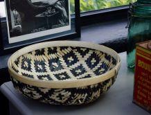 Corbeille bambou tressé ethnique