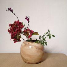 Vase boule en céramique émaillée