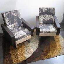 Paire de fauteuils Vintage 1950 - Entièrement rénové