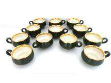 Lot 12 Tasses à Café Porcelaine - Vintage Bistrot Années 80