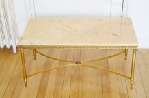 Table basse marbre style néoclassique années 60