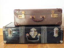 Petite valise brune