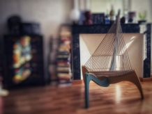 Fauteuil design de type Harp Chair