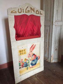 Jouet ancien - Théâtre de marionettes