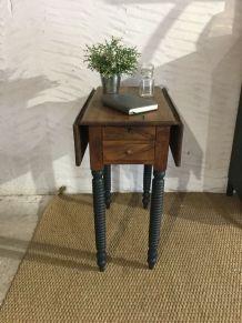 Table à ouvrage/travailleuse à deux volets ancienne