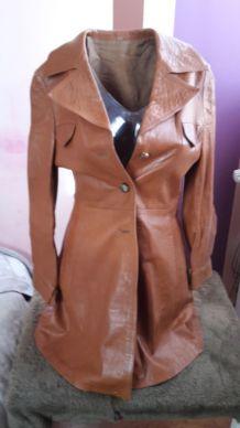 Manteau en cuir seventies