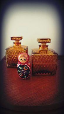 vintage carafe verre ambré carafe à décanter