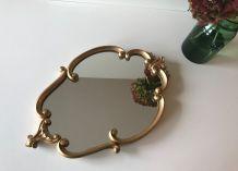Miroir ancien en bois doré