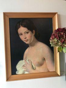 Reproduction tableau portrait femme