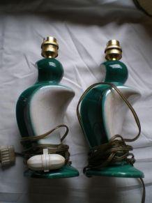 Paire lampes de chevet 1960