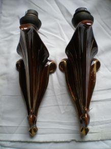 Paire appliques en céramique
