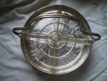Présentoir en métal argenté 1925